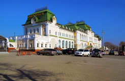 Railway station of Khabarovsk Stock Images