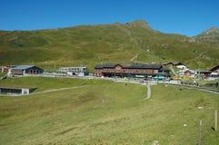 Railway station in Kleine Scheidegg in Switzerland Stock Photos