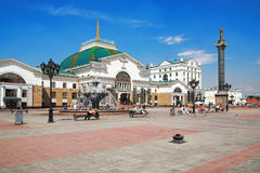 Railway Station in Krasnoyarsk Royalty Free Stock Image