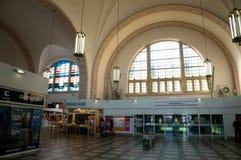 Railway station Krefeld. Interior Central station in Krefeld Royalty Free Stock Photo