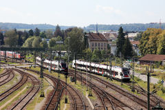 Railway station in Kreuzlinge. Stock Photo