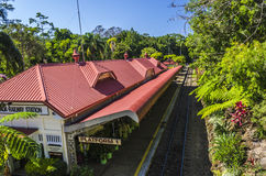The railway station of Kuranda stock images