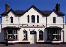 Railway station, Llanfair, Anglesey, Wales. Royalty Free Stock Photography