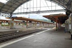 Railway station in Lourdes Stock Photo