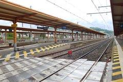 Railway station in Lourdes Stock Photos