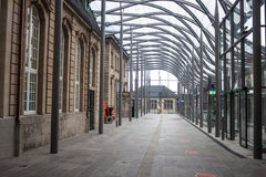 Railway station in Luxembourg Royalty Free Stock Photography