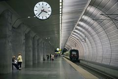 Railway station in Malmo, Sweden stock photography