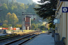 Railway Station in Marradi. Marradi, Province of Florence, Italian, region Tuscany Stock Photos