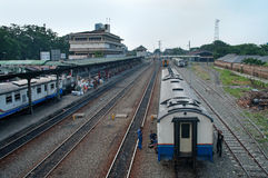 Railway Station in Medan, Indonesia. Royalty Free Stock Photography