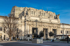 Railway station of Milan, Italy Royalty Free Stock Image