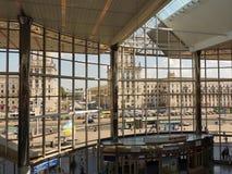 Railway station in Minsk. Train station in the city of Minsk. View of the city from the train station in the capital of Belarus Minsk Stock Image