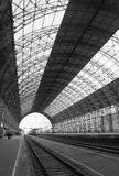 Railway station in Moscow. A railway station in Moscow Stock Photography