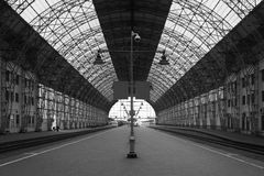 Railway station in Moscow. A railway station in Moscow Royalty Free Stock Photos