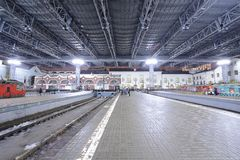 Railway station in Moscow. Royalty Free Stock Image