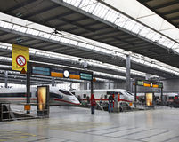 Railway station in Munich. Germany Stock Images