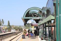 Railway station in Netanya in Israel Royalty Free Stock Photos