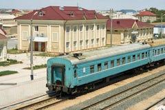 Railway station of New Uzen. Stock Images