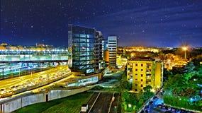Roma Tiburtina by night royalty free stock image
