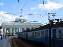 Railway station, Odessa, Ukraine Stock Photography
