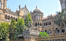 Railway station old building in Mumbai Stock Image