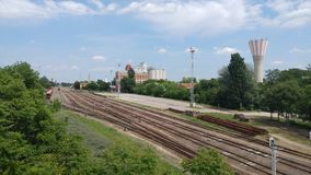 Railway station. Orosháza, water tower Stock Images