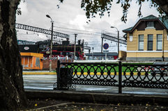 Railway station Orsk Royalty Free Stock Images
