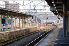Railway Station in Osaka, Japan Royalty Free Stock Photo