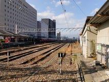 Railway Station in Osaka, Japan Stock Images