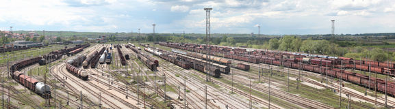 railway station panorama Royalty Free Stock Photography