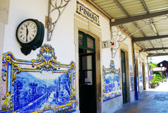 Railway station of Pinhao, Douro Valley, Portugal Stock Photography