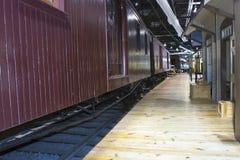 Railway Station Platform Royalty Free Stock Photography