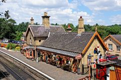 Railway station and platform, Arley. Royalty Free Stock Image