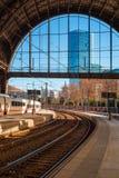 Railway station platform Royalty Free Stock Image