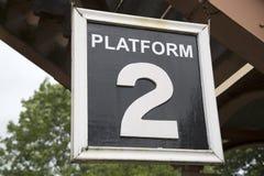 Railway Station Platform Sign. Railway Station Platform Two Sign royalty free stock photos