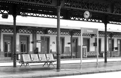 Railway station platforms Royalty Free Stock Photography