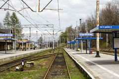 Railway station platforms in Zakopane Royalty Free Stock Image