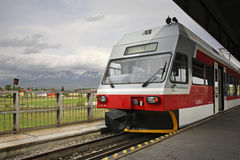 Railway station in Poprad.  Slovakia Royalty Free Stock Images