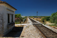 Railway station in Portugal Stock Photography