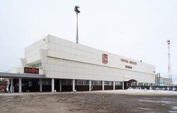 Railway station in Privokzalnaya Square in Rostov Veliky Royalty Free Stock Photos