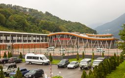 Railway station Red Polyana in Sochi in Russia Stock Photo