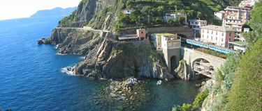 Railway station of Riomaggiore Stock Photography