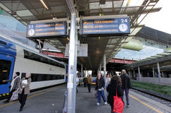 Railway station in Rome, Italy Royalty Free Stock Photography