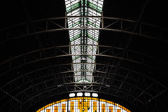 Railway Station Roof Structure Royalty Free Stock Images