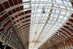 Railway station roof. Wrought iron roof structure of Paddington railway station Stock Photos