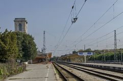 Railway station in Ruse town Royalty Free Stock Photo