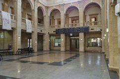 Railway station Ruse town - internal hall. Railway station Ruse town, Bulgaria - internal hall Stock Photography