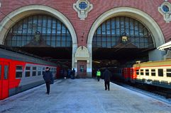 Railway station, Russia, Moscow, Kazan station an ordinary day Royalty Free Stock Images