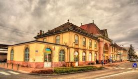 Railway station of Saint Louis - France Stock Image
