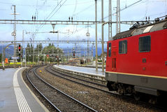 Railway station in Sargans. Switzerland Royalty Free Stock Photography