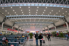 Railway station in Shenyang stock images